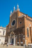 Venedig Italien - 17 08 2018: Renässansbasilikan av helgonG royaltyfria foton