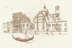 Venedig, Italien Retro- Art stock abbildung