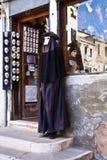 Venedig, Italien - Shopeingang, der venetianische Masken verkauft Stockfotos