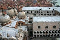 Venedig Italien, slott för doge` s Arkivfoto
