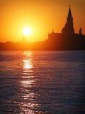 Venedig Italien - soluppgång Arkivfoton