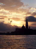 Venedig Italien - soluppgång Royaltyfria Bilder