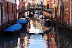Venedig, Italien - szenische Ansicht des venetianischen Kanals Lizenzfreies Stockfoto