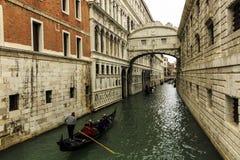 Venedig Itally kanal arkivbild