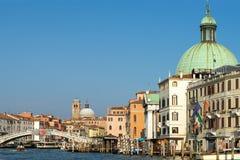 VENEDIG ITALY/EUROPE - OKTOBER 12: Grand Canal i Venedig det Royaltyfri Foto