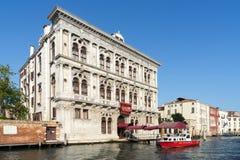 VENEDIG ITALY/EUROPE - OKTOBER 12: KasinoDi Venezia i Venedig Arkivfoton