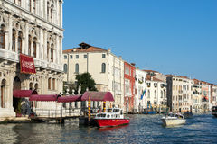 VENEDIG ITALY/EUROPE - OKTOBER 12: KasinoDi Venezia i Venedig Arkivbild