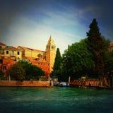 Venedig Kanäle und Architektur im Retrostil Lizenzfreies Stockfoto