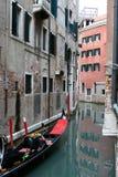 Venedig kanaler Arkivbild
