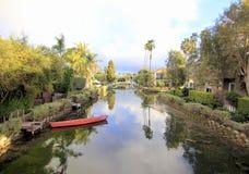 Venedig kanaler, Los Angeles, Kalifornien Royaltyfria Bilder