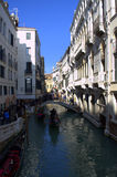 Venedig kanalsikt Arkivfoton