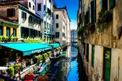 Venedig kanalsystem Royaltyfri Fotografi