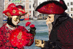 Venedig karneval Royaltyfri Bild