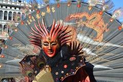 Venedig karneval 2014 Royaltyfri Foto