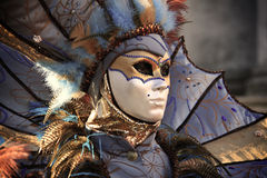 Venedig karneval 2016 Arkivfoton