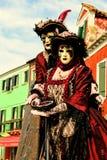 Venedig karneval 2019 royaltyfri foto
