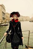 Venedig karneval Paricipant Royaltyfria Foton