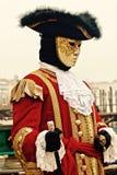 Venedig karneval Paricipant Royaltyfri Bild