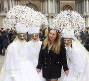 Venedig karneval Paricipant Fotografering för Bildbyråer