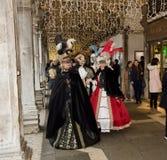 Venedig karneval Paricipant royaltyfri foto
