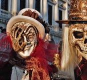 Venedig-Karneval, Porträt einer Maske, während des venetianischen Karnevals in der ganzen Stadt dort sind wunderbare Masken stockfoto
