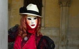 Venedig-Karneval Schablone Lizenzfreies Stockfoto