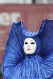 Venedig karnevaldeltagare arkivbild