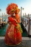 Venedig karnevaldräkt Royaltyfria Bilder