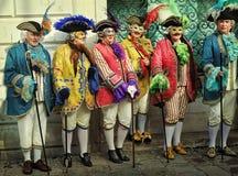 Venedig karnevalfestival Arkivfoto