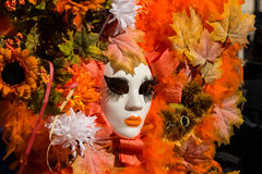 Venedig karnevalmaskering Arkivfoton