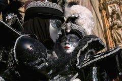 Venedig karnevalmaskeringar Fotografering för Bildbyråer