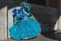 Venedig karnevalmaskeringar Arkivfoto