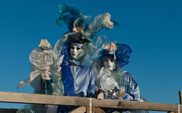 Venedig karnevalmaskeringar Arkivfoton
