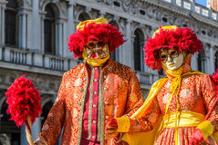 Venedig-Karnevals-Paare Lizenzfreie Stockfotografie