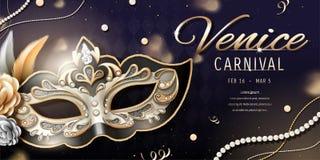Venedig-Karnevalsfahne stock abbildung