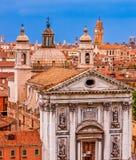 Venedig-Kirchen und Hauben Lizenzfreies Stockfoto