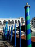 Venedig kolonner Arkivbild