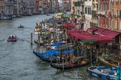 Venedig krökning Arkivbild
