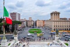 Venedig kvadrerar piazza Venezia i Rome, Italien royaltyfri bild
