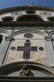 Venedig kyrka av den Santa Maria deien Miracoli arkivfoton