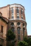 Venedig kyrka av Frarien, absid royaltyfri foto