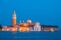 Venedig - kyrka av San Giorgio Maggiore Fotografering för Bildbyråer