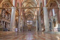 Venedig - kyrklig basilikadiSanta Maria Gloriosa dei Frari. Royaltyfria Foton