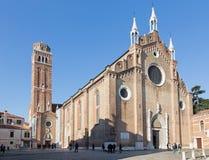 Venedig - kyrklig basilikadiSanta Maria Gloriosa dei Frari. Arkivbild