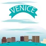 Venedig-Landschaftsvektoren Stockfoto