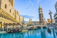 Venedig landskap i Las Vegas på Royaltyfri Fotografi