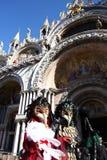 Venedig-Maske am italienischen Karneval Stockbild