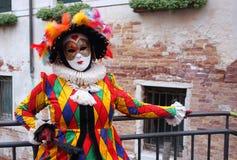 Venedig maskeringskarneval Royaltyfria Bilder
