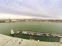 Venedig med Sts Marc fyrkant i bakgrund Arkivfoto