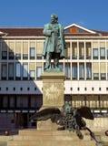 Venedig - monument av Daniele Manin arkivbild